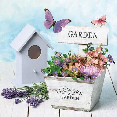 Χαρτοπετσέτα για decoupage, Garden & Flowers