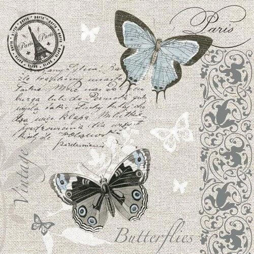 Χαρτοπετσέτα για decoupage, Butterflies Postcard