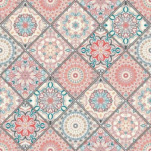 Χαρτοπετσέτα για Decoupage, Mandala Boho Pink, 1τεμ