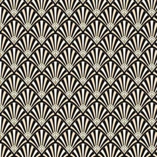 Χαρτοπετσέτα για Decoupage, Pattern Black and Gold, 1τεμ