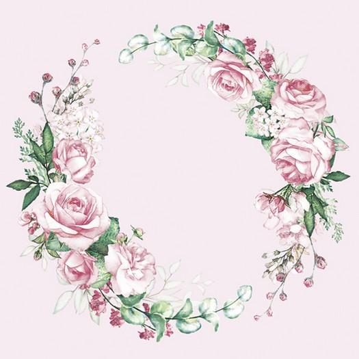 Χαρτοπετσέτα για Decoupage, Flower wreath, 1τεμ