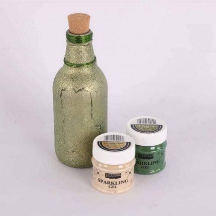 Sparkling gel (ιριδίζουσα πάστα) 50 ml, Pentart, Transparent Silver