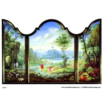 Ριζόχαρτo MONDO για Ντεκουπάζ 30Χ40cm Trampe l'oeil