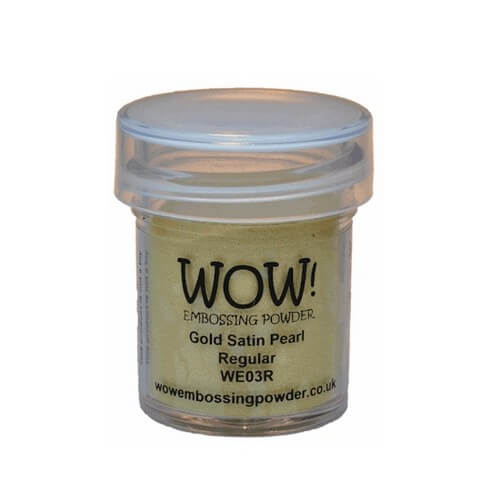 Σκόνη Embossing 15ml WOW, Gold Satin Pearl
