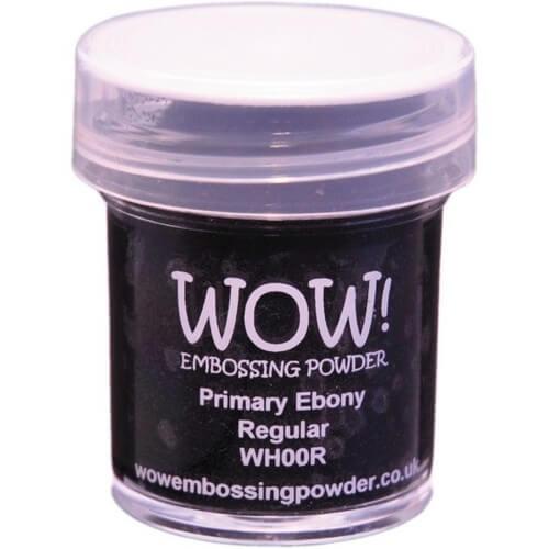 Σκόνη Embossing 15ml WOW, Primary Ebony