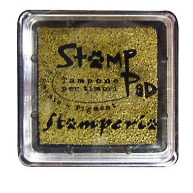 Μελάνι για σφραγίδες, 24x24 mm Stamperia, Gold