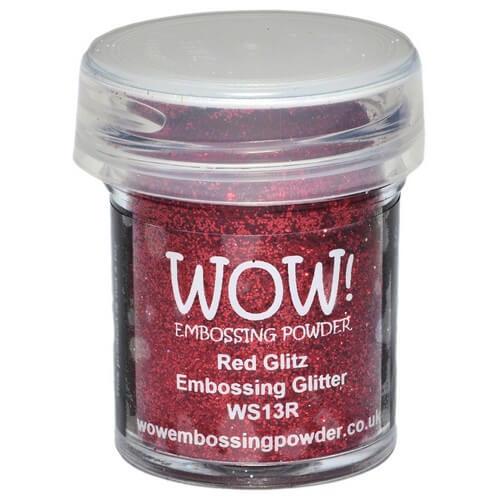 Σκόνη Embossing 15ml WOW, Red Glitz