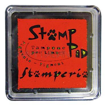 Μελάνι για σφραγίδες, 24x24 mm Stamperia, Red