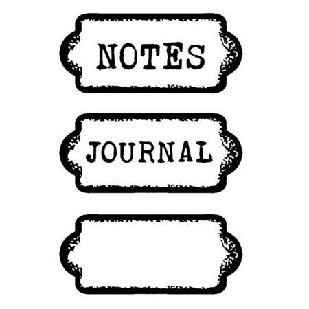 Σφραγίδα 7x11cm Targhetta Journal, Stamperia