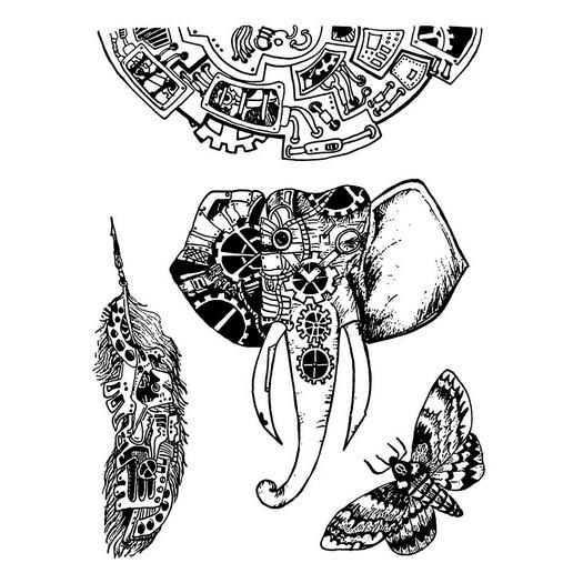 Σφραγίδα 15x20cm, Stamperia,  Mechanical animals