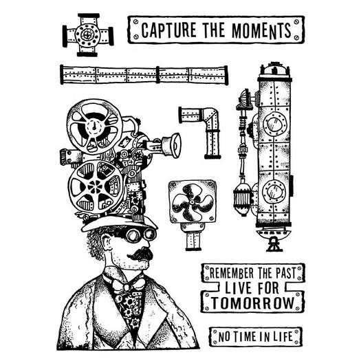 Σφραγίδα 15x20cm, Stamperia, Capture the moment
