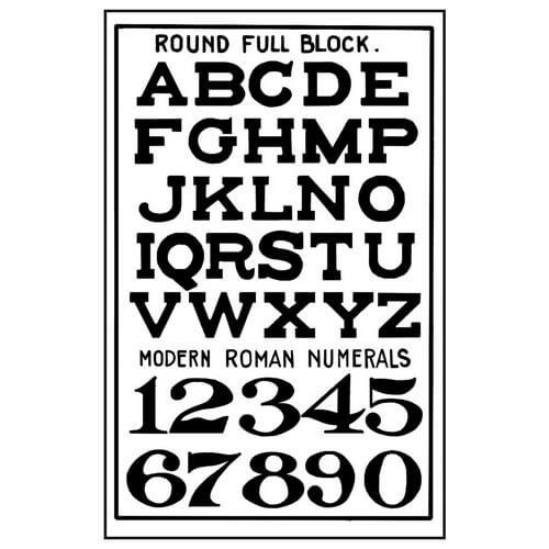 Σφραγίδα HD 7x11cm Alphabet & Numbers, Stamperia