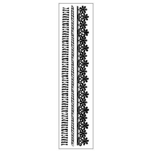 Σφραγίδα HD 4x18cm Cords & Laces, Stamperia
