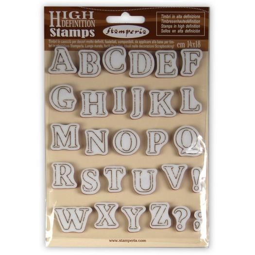 Σφραγίδα HD 14x18cm, Stamperia, Alphabet