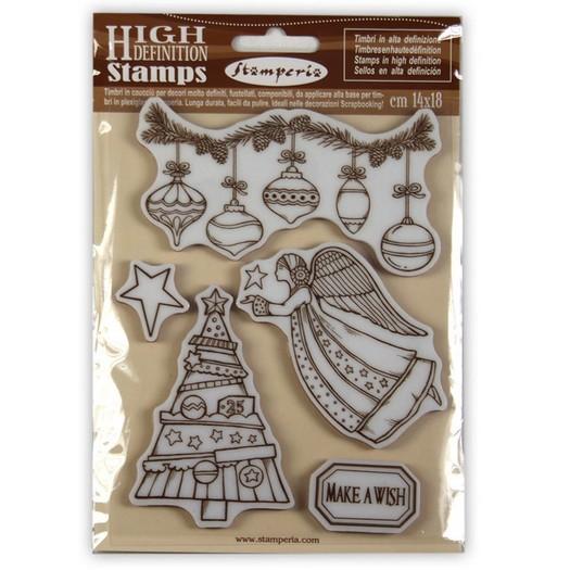 Σφραγίδα HD, Stamperia, 14x18cm, Angel Make a wish