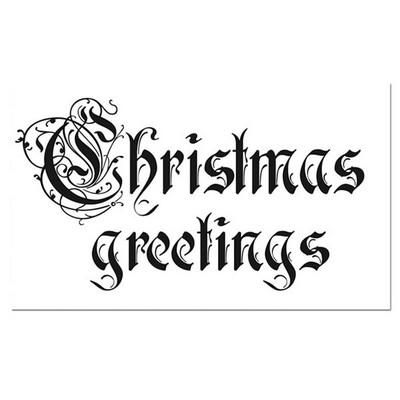 Σφραγίδα HD Christmas Greetings 7x11cm , Stamperia