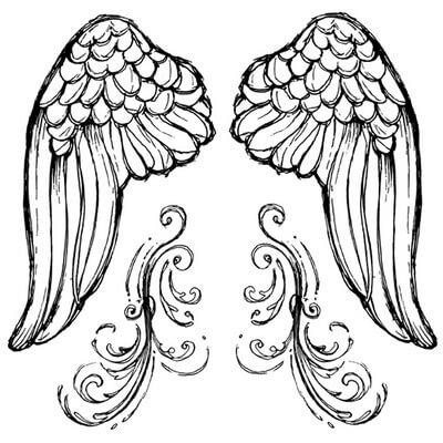 Σφραγίδα HD Angel's wings 10x10cm ,Stamperia