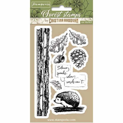 Σφραγίδα HD, Stamperia, 10x16,5cm Forest hedgehog