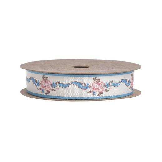 Κορδέλα rose blue line, 1,5cmx10m