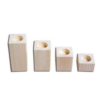 Κηροπήγιο ξύλινο 60x60x40mm