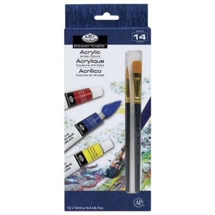 Ακρυλικά Royal & Langnickel - σετ 12 χρώματα+2 πινέλα