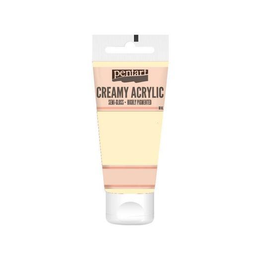 Χρώμα ακρυλικό Creamy Semi-Gloss 60ml Pentart - Ivory