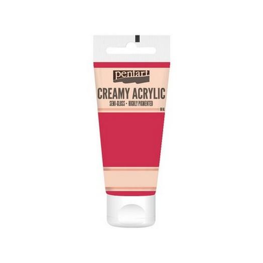 Χρώμα ακρυλικό Creamy Semi-Gloss 60ml Pentart - Carmine red