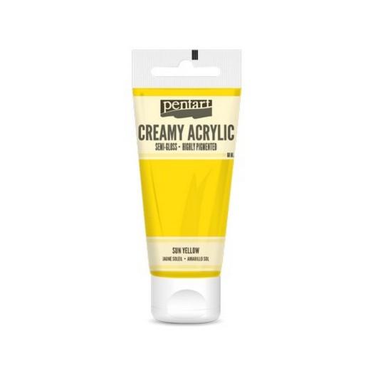Χρώμα ακρυλικό Creamy Semi-Gloss 60ml Pentart - Sun Yellow