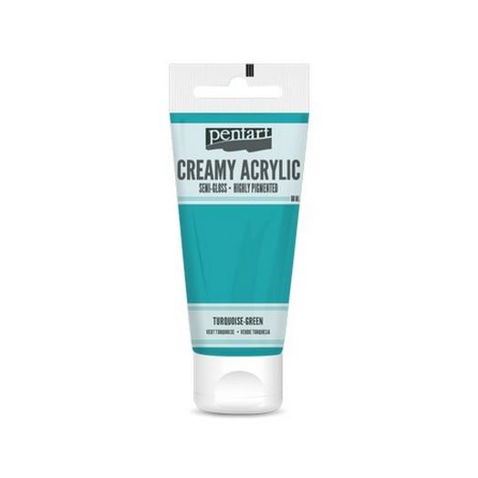 Χρώμα ακρυλικό Creamy Semi-Gloss 60ml Pentart - Turquoise-green