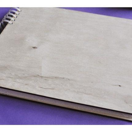 Album βάση οριζόντιο Α4 με ξύλινα εξώφυλλα