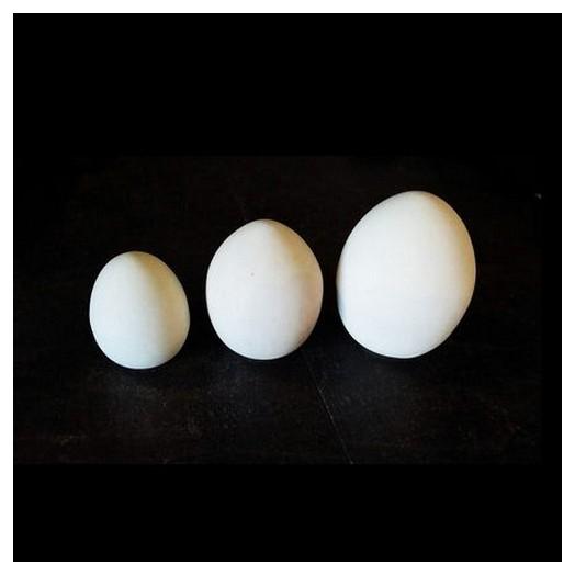 Αυγό κεραμικό βάσης λευκό 14cm