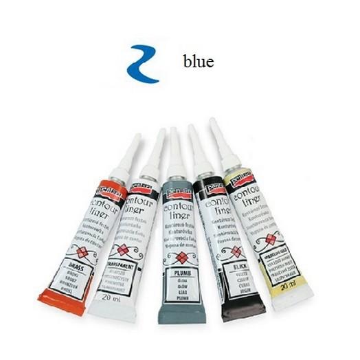Contour Liner Pentart 20ml - Blue
