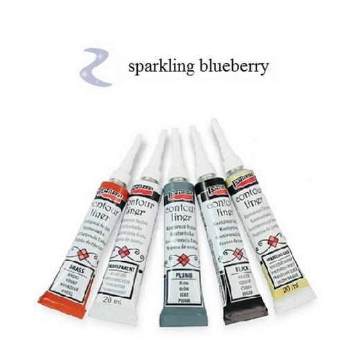 Contour Liner Pentart 20ml - Sparkling Blueberry