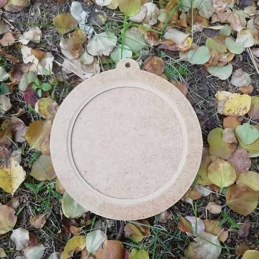 Μπάλα-κορνίζα mdf, 13,5cm, 2 μέρη