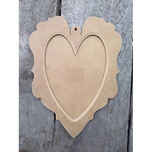 Καρδιά - στολίδι mdf 2 μέρη, 20x14cm
