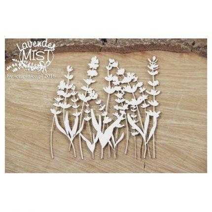 Διακοσμητικό Chipboard Lavender background , 9.5cm