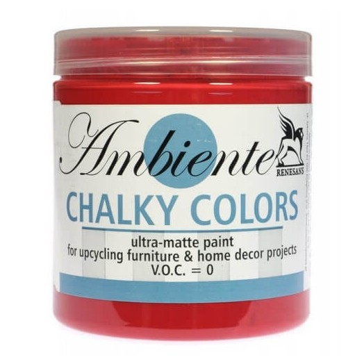 Chalk Paint (χρώμα Κιμωλίας) Ambiente 250ml - Roman Red