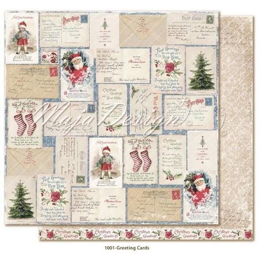 Χαρτί Scrapbooking Maja Collection διπλής όψης, Christmas Season, Greeting Cards