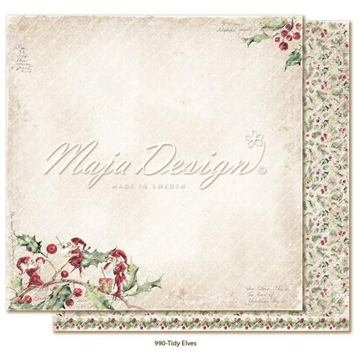 Χαρτί Scrapbooking Maja Collection διπλής όψης, Christmas Season, Tidy Elves