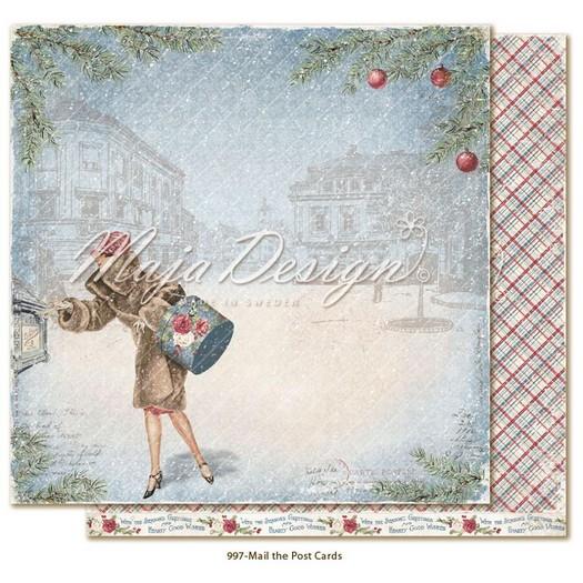 Χαρτί Scrapbooking Maja Collection διπλής όψης, Christmas Season, Mail the Postcards