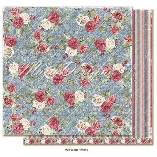 Χαρτί Scrapbooking Maja Collection διπλής όψης, Christmas Season, Winter Roses
