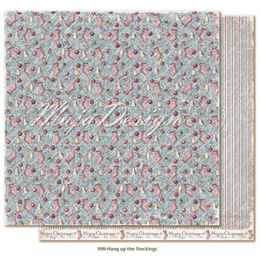 Χαρτί Scrapbooking Maja Collection διπλής όψης, Christmas Season, Hang up the Stockings