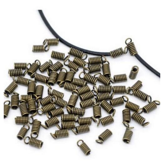 Antique Bronze Metal συνδετήρες 8x4mm - σετ 30 τεμ.