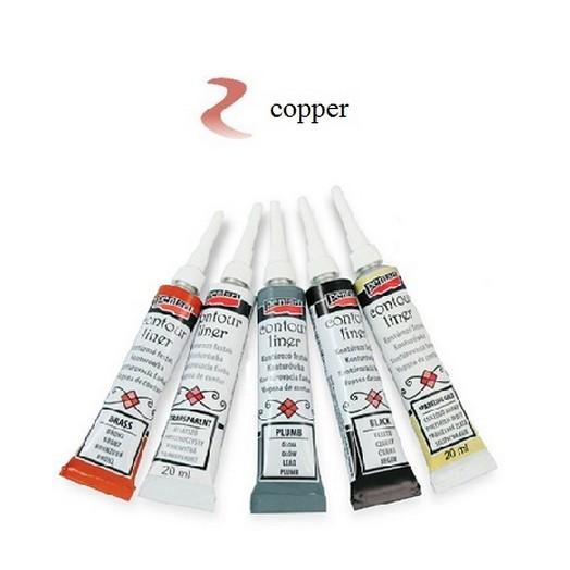 Contour Liner Pentart 20ml - Copper
