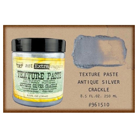 Finnabair Art Extravagance Texture Paste - Antique Silver Crackle,250ml