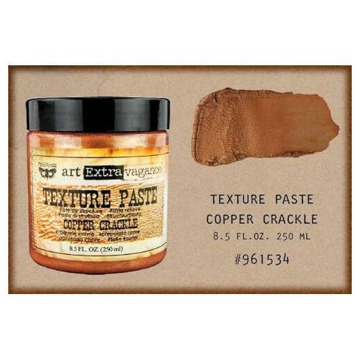 Finnabair Art Extravagance Texture Paste - Copper Crackle, 250ml
