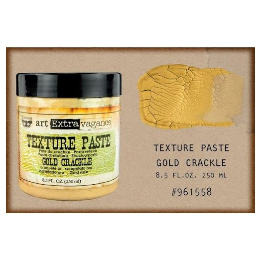 Finnabair Art Extravagance Texture Paste - Gold Crackle, 250ml