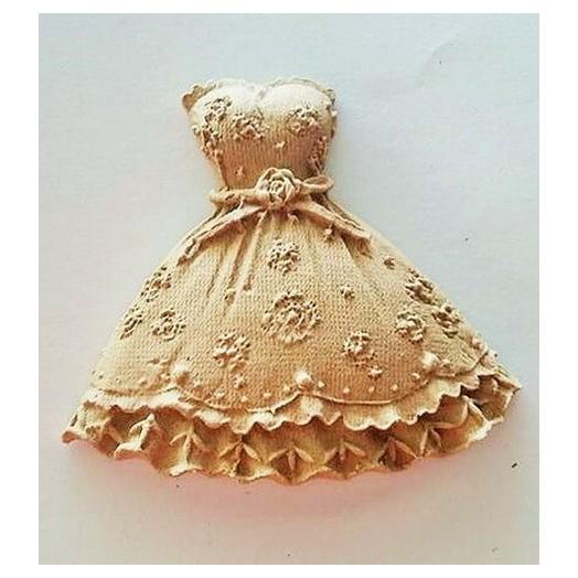 Ξυλόγλυπτo mini Φόρεμα 6x6.3cm