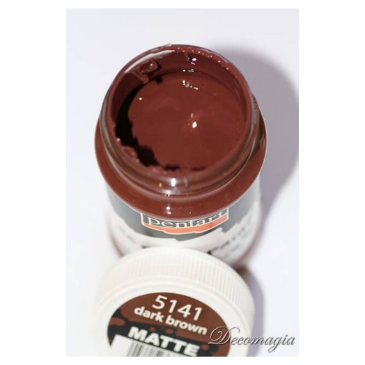 Χρώμα Pentart 230ml ,dark brown