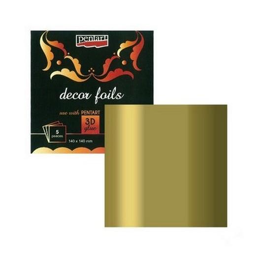 Μεταλλικό Φύλλα 3d Metallic Gold Pentart, 5τεμ
